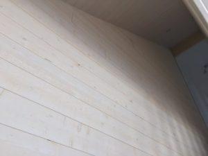 Lambris Epicéa Brut de sciage blanc, Chantier sur Plougonvelin (5)